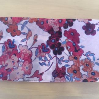 Cranberry Floral patterned Chiffon Scarf