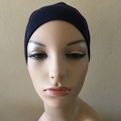 Navy Sleep Cap - front view