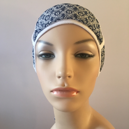 White turban with scarf - front view