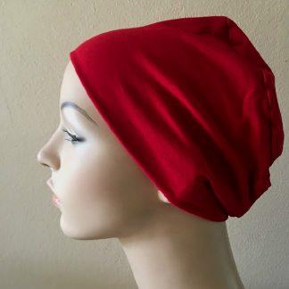 Red Sleep Cap - side view