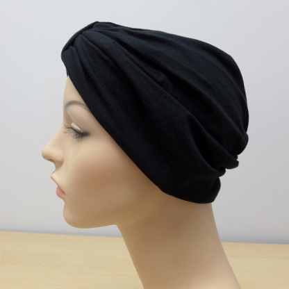 Black Classic Turban - side view