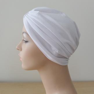 White Classic Turban - side view