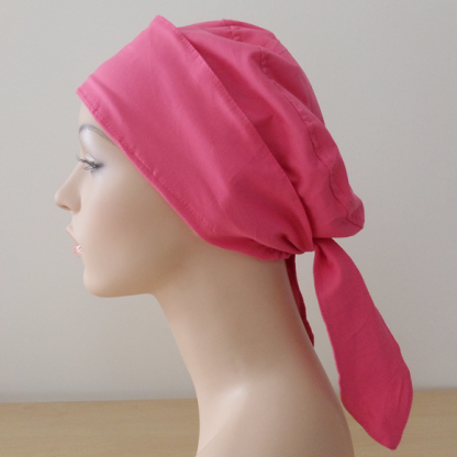 Tie-back-cap - Pink - side view