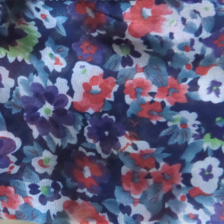 Chiffon scarf - Navy and Red Floral