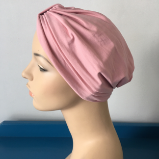 Classic Turban - Dusty Pink - side view