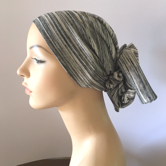 Salt and Pepper Gyspsy Headscarf
