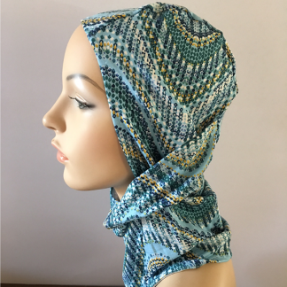 Headzee - Turquoise wave pattern -0