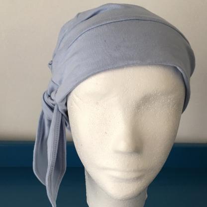 Mihla hat - Powder Blue - bow side