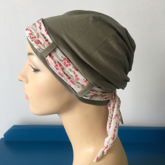 Herb Turban with Twigs scarf