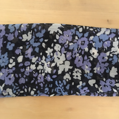 Purple and Blue Floral scarf