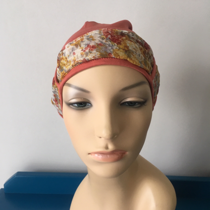 Rust Landa Turban with Mustard and Rust scarf