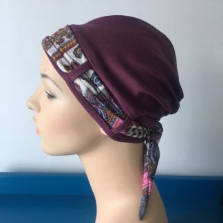 Grape Turban - carnival scarf