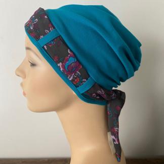 Side view of Turquoise Landa Turban